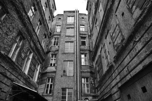 Hinterhof Berlin Stadt Haus Fenster Senior Fassade Hauptstadt Stadtzentrum Altstadt Hof Prenzlauer Berg