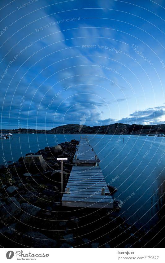 stairway to heaven Wasser Himmel Meer ruhig Holz Landschaft Wellen Küste Nebel Horizont Brücke Romantik Idylle Licht Steg Seeufer