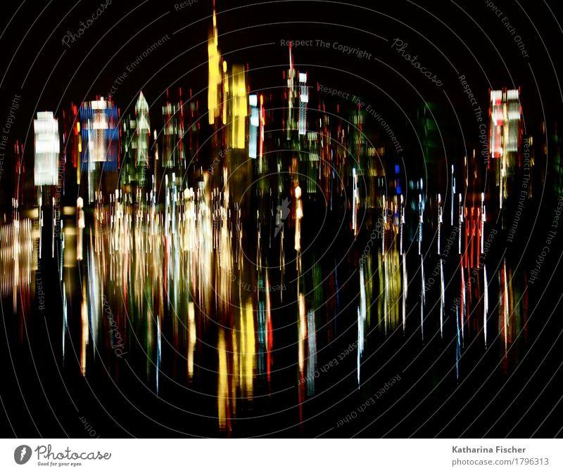 City reflections Stadt blau grün weiß rot Haus schwarz gelb Kunst grau Deutschland braun orange gold Europa violett