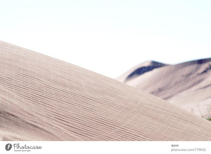 wüst ruhig Einsamkeit Wärme Landschaft Wüste Hügel Düne verloren Dürre wellig