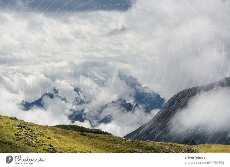 Wolken Ausflug Abenteuer Ferne Freiheit Berge u. Gebirge wandern Umwelt Natur Landschaft Himmel Horizont Sonne Schönes Wetter Wiese Hügel Felsen Dolomiten
