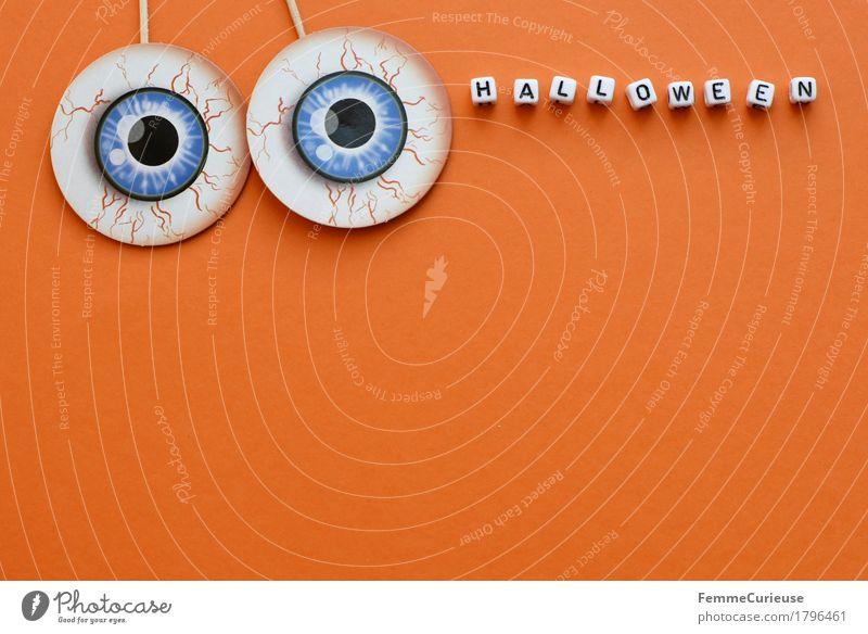 Halloween_1796461 Auge Feste & Feiern orange Schriftzeichen Buchstaben gruselig Gefäße