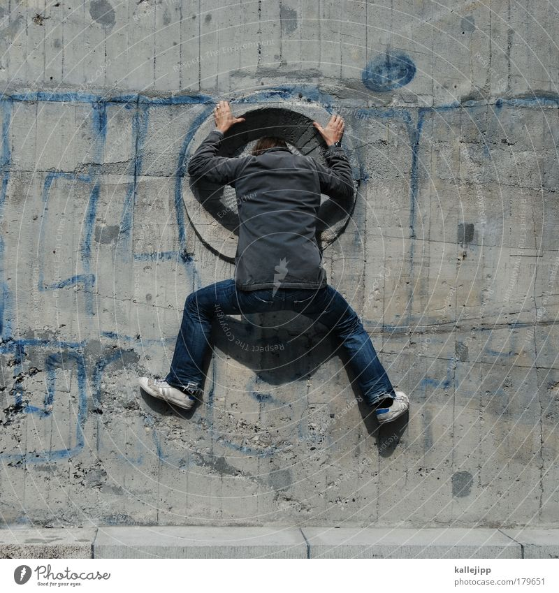 arschkriecher Mensch Mann Haus Erwachsene Fenster Leben Beine Rücken maskulin Erfolg Neugier Klettern Unendlichkeit Krimineller Hinterteil 1