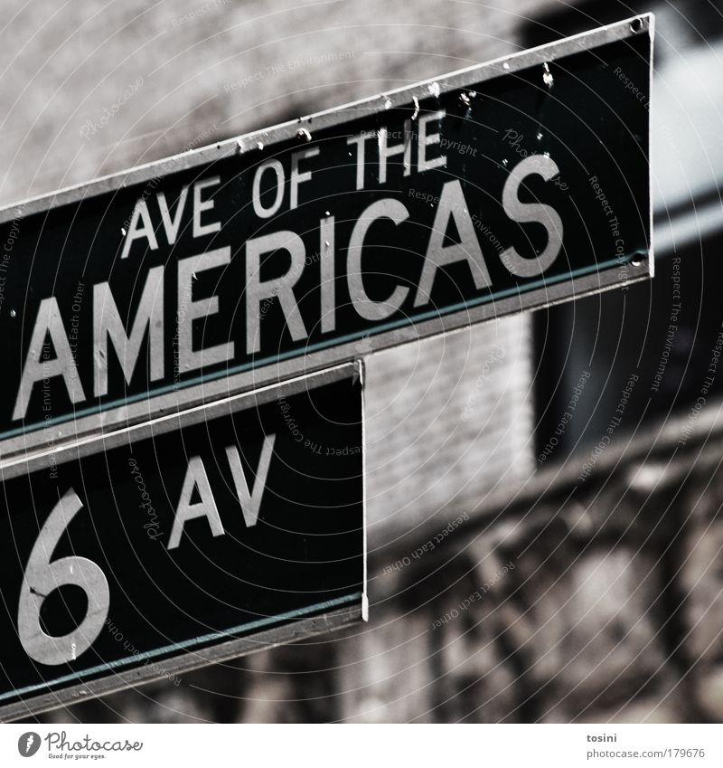 6 AV Stadt Sommer Ferien & Urlaub & Reisen Haus Straße Fenster grau Wege & Pfade Straßenverkehr Verkehr Tourismus USA Amerika reich New York City Wegweiser