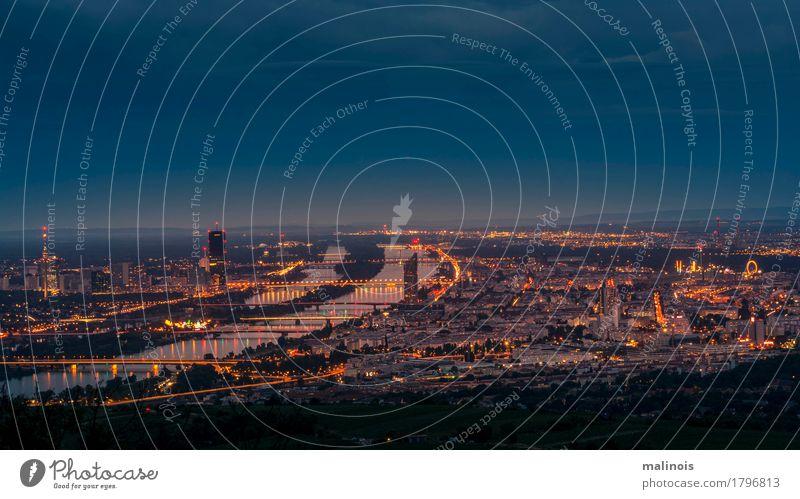 Wien bei Nacht Horizont Sehenswürdigkeit