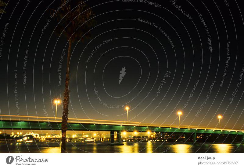 Fremantle at Riverside Stadt Ferien & Urlaub & Reisen Bewegung Wege & Pfade träumen ästhetisch Brücke Güterverkehr & Logistik Verkehrswege Nacht Nachthimmel