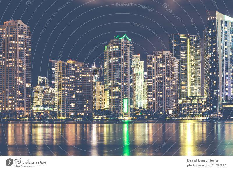 Miami/Downtown Ferien & Urlaub & Reisen Stadt Meer Haus Fenster Küste Tourismus Arbeit & Erwerbstätigkeit Wachstum Hochhaus USA Fluss Skyline Hotel