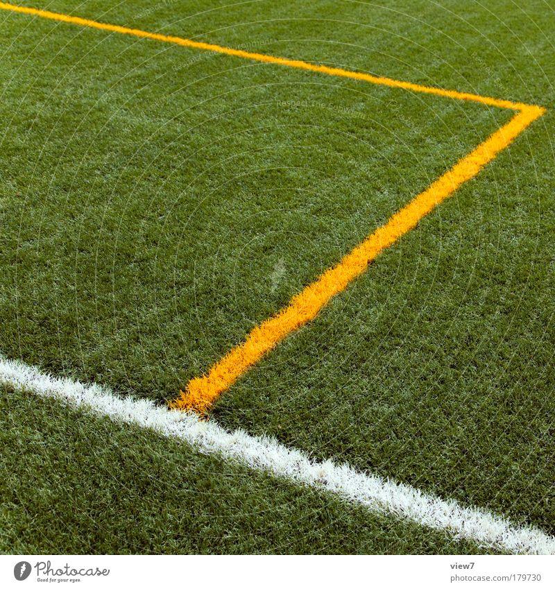 Klein- in Großfeld Natur grün Ferien & Urlaub & Reisen gelb Wiese Spielen Park Zufriedenheit Freizeit & Hobby natürlich Ordnung Fußball frisch modern ästhetisch Perspektive