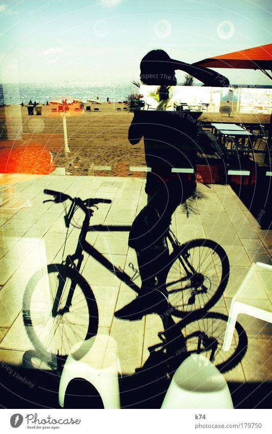 Fahrrad Mensch Mann Fahrrad Erwachsene Bar einzigartig Restaurant Fahrradfahren Lounge Strandbar Cocktailbar