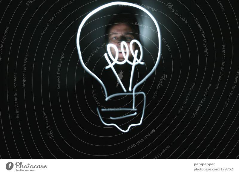 Lampenschein Mensch Erwachsene Wärme Bewegung Kopf Kunst Stimmung außergewöhnlich glänzend elegant maskulin Energie Design modern Geschwindigkeit stehen