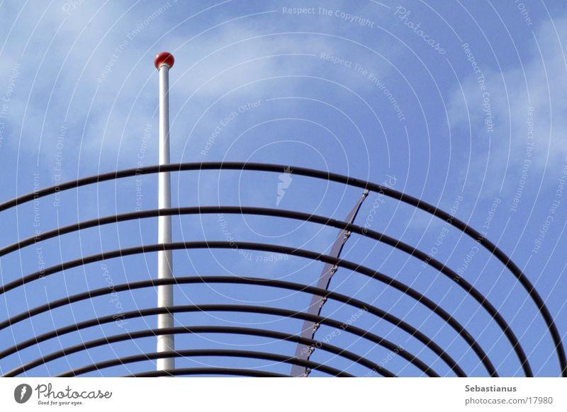 Dachdekoration Himmel blau Architektur Spirale Antenne Stab