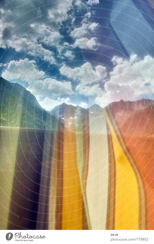 Aufwärts strebend Natur Ferien & Urlaub & Reisen Sommer Wolken ruhig Berge u. Gebirge Umwelt träumen Luft Freizeit & Hobby leuchten Erde wandern fantastisch