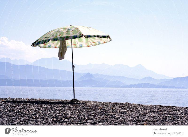 Urlaub vom Urlaub Sonne Meer blau Freude Strand Ferien & Urlaub & Reisen grau Stein hell Wunsch heiß Schönes Wetter Fernweh Sommerurlaub