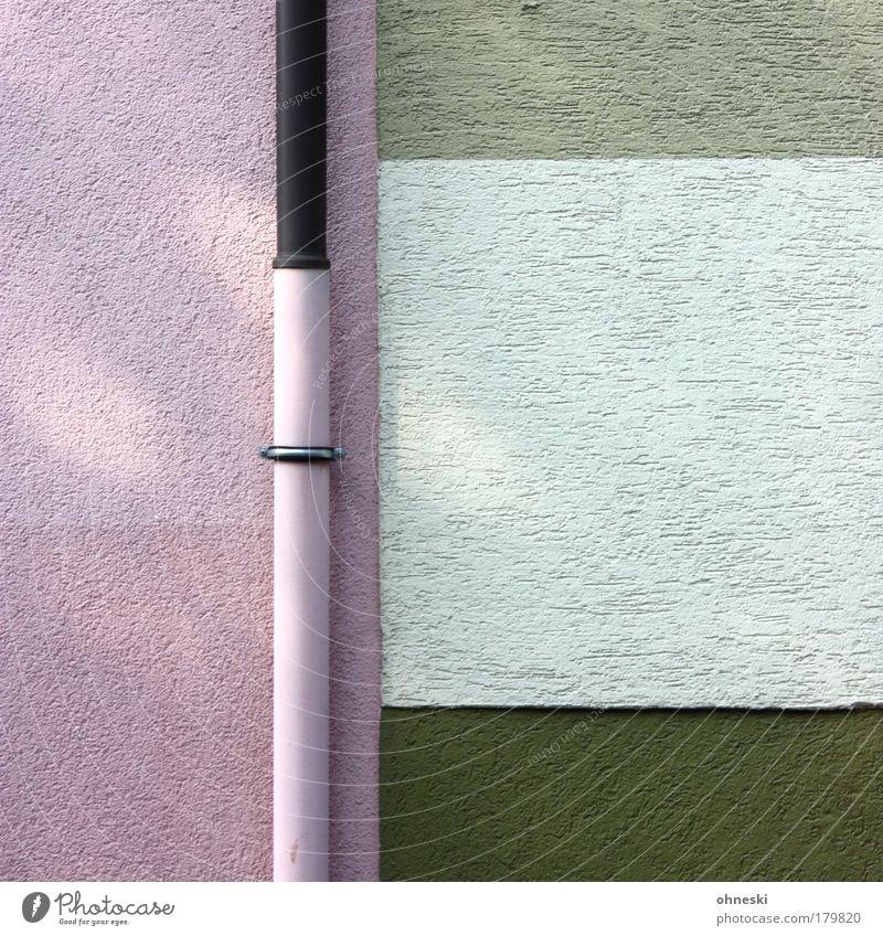 Wandmalerei grün Haus Farbe Architektur Gebäude Mauer rosa Fassade verrückt Kitsch streichen skurril Maler Farbenspiel