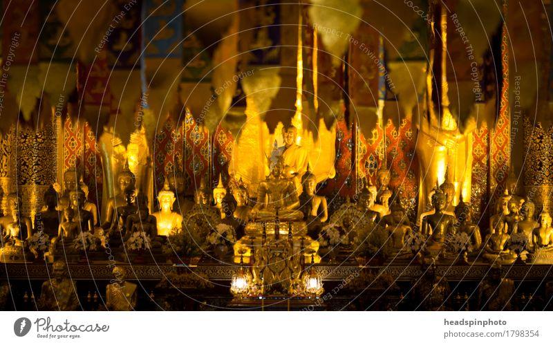Golden Buddha ruhig Ferne Religion & Glaube Gebäude Denken Tourismus Ausflug Ewigkeit Sehenswürdigkeit Meditation Sightseeing Gebet Tourist Thailand achtsam