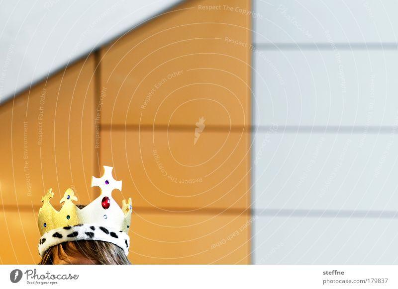 King jojo has the mojo weiß Erwachsene gelb Kopf lustig außergewöhnlich gold glänzend maskulin ästhetisch Macht historisch Karneval trashig König Edelstein