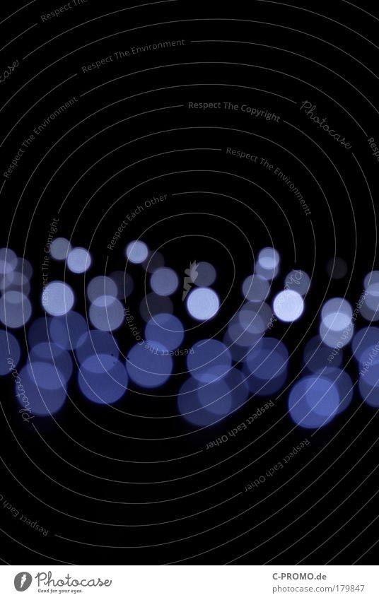 dancing blue light dots I blau schwarz Ferne Design Show Weltall Veranstaltung Surrealismus abstrakt Lichtpunkt