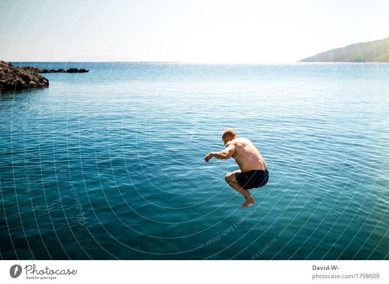 gleich platscht es Freude Glück Gesundheit Gesunde Ernährung sportlich Fitness Leben Ferien & Urlaub & Reisen Abenteuer Ferne Freiheit Sommer Sommerurlaub Meer