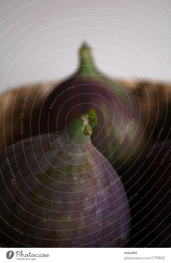 feige Feigen Farbfoto Lebensmittel Frucht Ernährung Natur lecker dunkelgrün violett Unschärfe Feigenbaum Dekoration & Verzierung frisch Pflanze