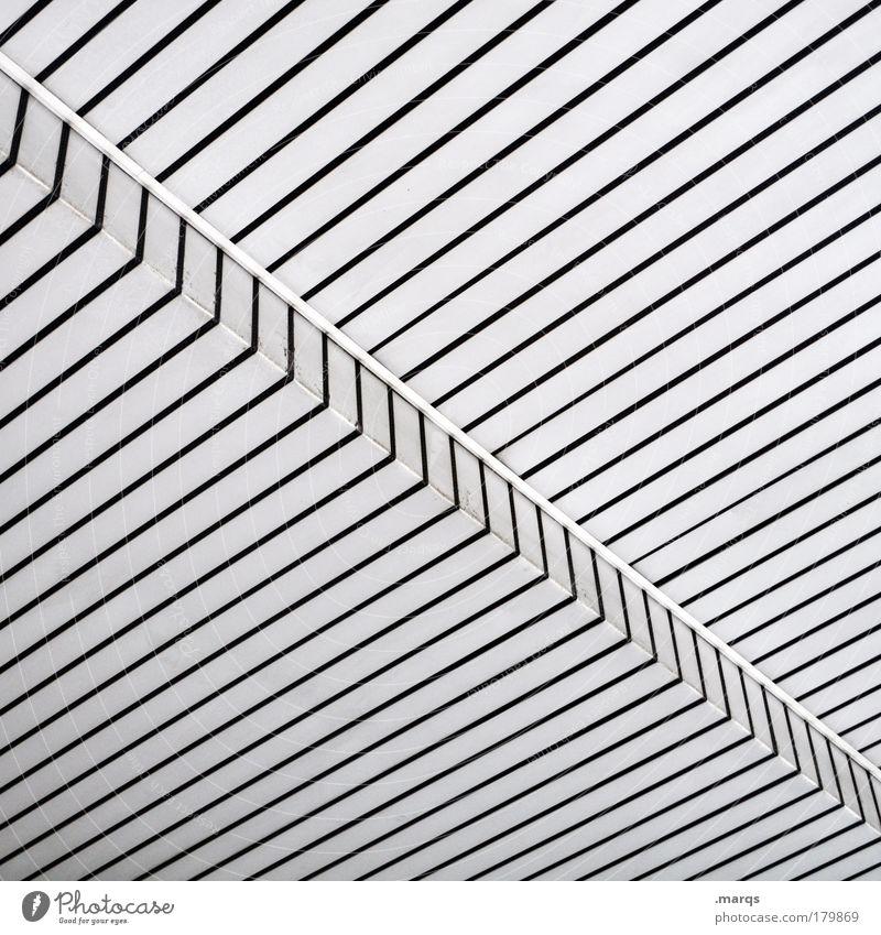 Konsequent weiß schwarz Stil Linie Architektur Hintergrundbild Design elegant Erfolg Fassade modern einfach Sauberkeit Streifen außergewöhnlich Kunststoff