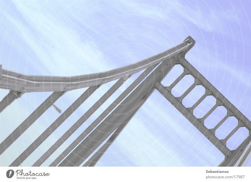 really, it´s a bridge Brücke Fluss Verbindung Eisen Rhein Duisburg Autobrücke Krefeld