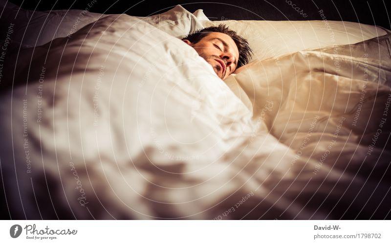 sooo müde Mensch Ferien & Urlaub & Reisen Jugendliche Mann Junger Mann Erholung Einsamkeit ruhig Erwachsene Wärme Leben Kopf maskulin träumen Zufriedenheit