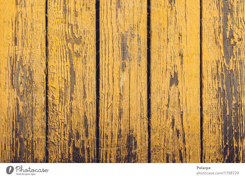 Gelbe Holzbohlen mit abblätternder Farbe alt gelb natürlich Gebäude Design dreckig Dekoration & Verzierung retro Zaun Material Etage Riss Tapete Oberfläche