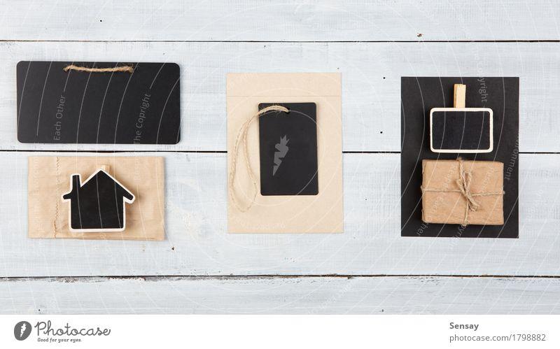 Textfelder - Satz leere Umbauten und Aufkleber alt weiß schwarz Holz Business Aussicht Tisch kaufen Geschenk Hinweisschild Papier Seil Information Postkarte