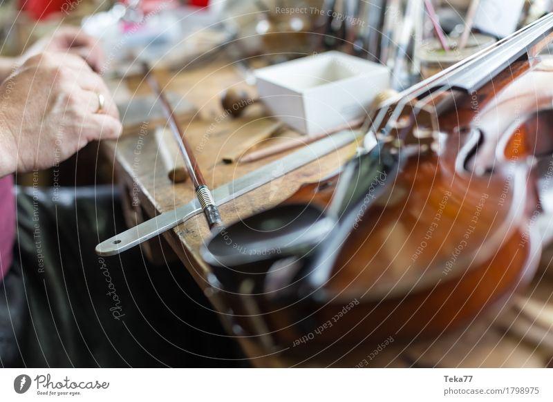 Geigenbau IIIIIII Stil Musik Arbeit & Erwerbstätigkeit Beruf Handwerker Mensch Kunst Künstler ästhetisch Geigenbauer Farbfoto Studioaufnahme Nahaufnahme