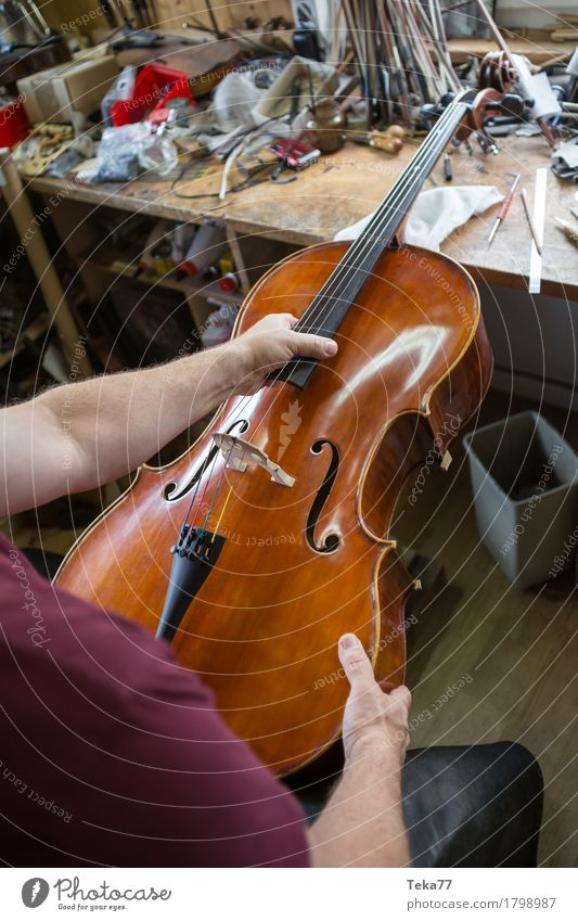 Geigenbau IIIII Stil Musik Bildung Arbeit & Erwerbstätigkeit Beruf Handwerker Mensch Kunst Künstler ästhetisch Geigenbauer Studioaufnahme Nahaufnahme