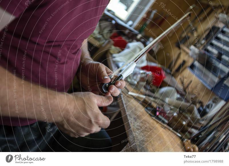 Geigenbau IIIIIII Stil Musik Beruf Handwerker Geigenbauer Arbeitsplatz Mensch ästhetisch Musikinstrument Farbfoto Nahaufnahme Detailaufnahme Makroaufnahme