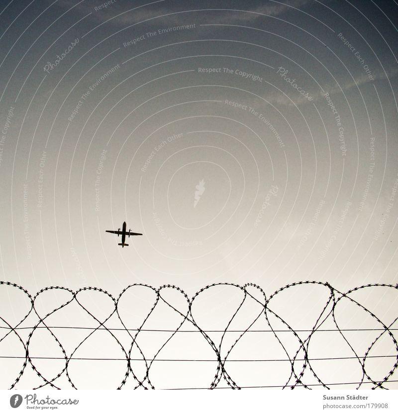 let`s fly away Ferien & Urlaub & Reisen Tourismus Ausflug Ferne Freiheit Technik & Technologie Verkehr Luftverkehr Flugzeug Passagierflugzeug Propellerflugzeug