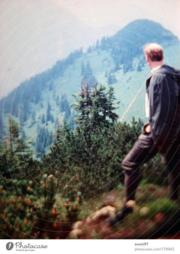 La montagne wandern Berge u. Gebirge Aussicht Klettern Gipfel Erschöpfung Bergkette
