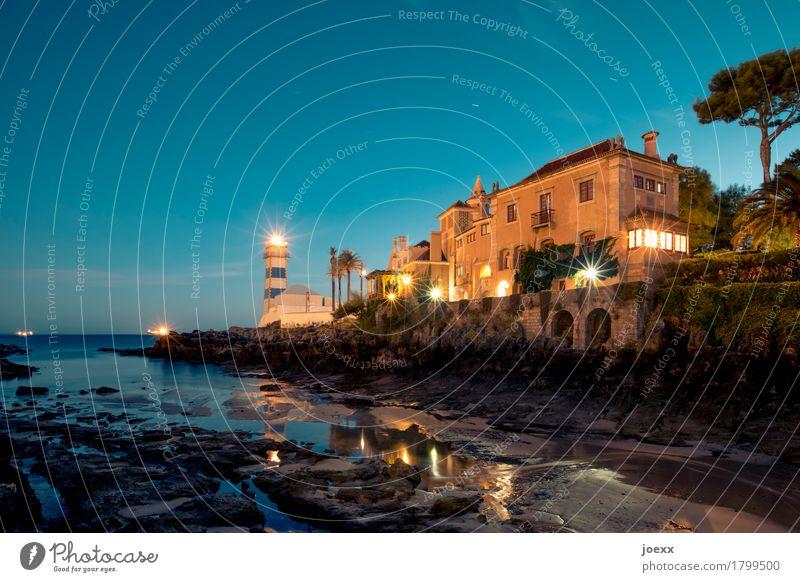 Santa Marta alt blau grün Haus schwarz braun historisch Sehenswürdigkeit Burg oder Schloss Leuchtturm maritim Portugal