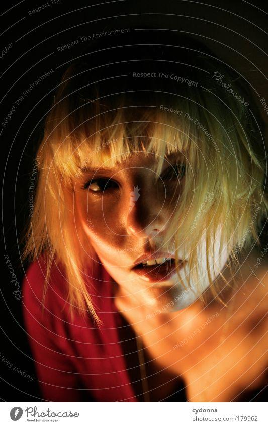 Heat. Frau Mensch Jugendliche schön Gesicht Erwachsene feminin Leben Gefühle Haare & Frisuren Wärme Zeit elegant Haut Energie ästhetisch