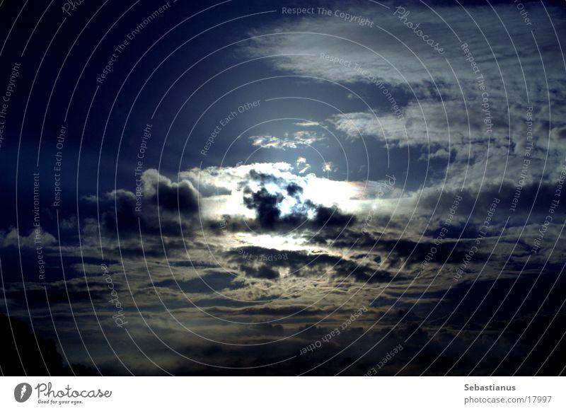 DuesterHimmel Sonne Wolken dunkel Regen Endzeitstimmung
