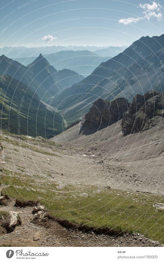 Silberspitze Natur Sommer Ferien & Urlaub & Reisen ruhig Einsamkeit Berge u. Gebirge Freiheit Wege & Pfade Landschaft wandern Umwelt Alpen Unendlichkeit Sehnsucht Gipfel entdecken