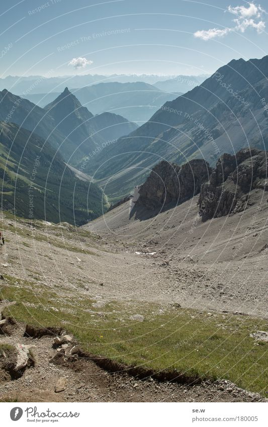 Silberspitze Natur Sommer Ferien & Urlaub & Reisen ruhig Einsamkeit Berge u. Gebirge Freiheit Wege & Pfade Landschaft wandern Umwelt Alpen Unendlichkeit