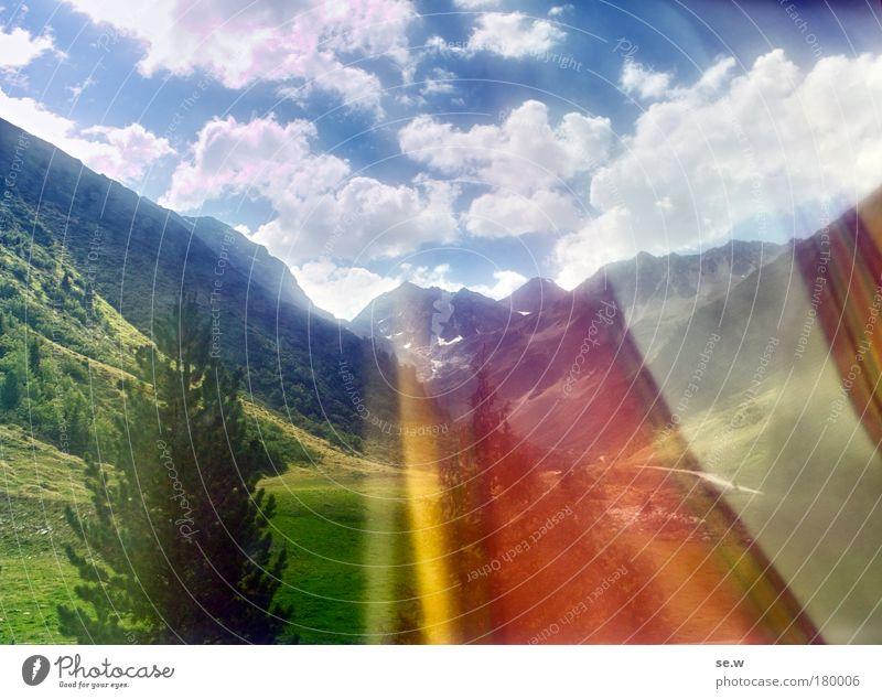 Keine Macht den Drogen! Natur Ferien & Urlaub & Reisen Sommer Einsamkeit Ferne Berge u. Gebirge Umwelt außergewöhnlich träumen Tourismus Fröhlichkeit Sehnsucht Alpen Fernweh Vorfreude Vorhang