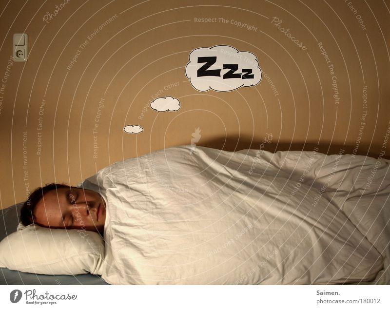 saimen im traumland Mann schön ruhig Erwachsene Erholung Wärme Kopf träumen Gesundheit Zufriedenheit natürlich maskulin liegen schlafen Sicherheit Pause