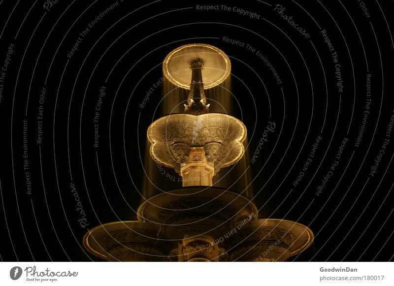 Brunnen Wasser schön kalt nass ästhetisch außergewöhnlich Brunnen Symmetrie Langzeitbelichtung