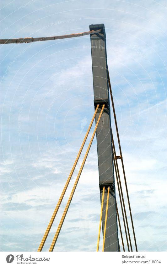 Rheinbrücke A40 Brücke Fluss Duisburg