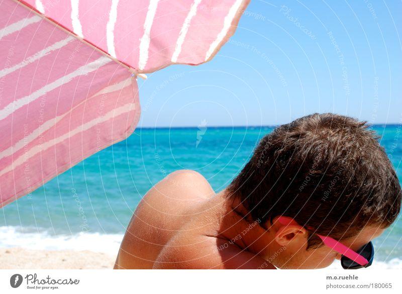 rosaarten Mensch Jugendliche ruhig Erholung Stil Haare & Frisuren Kopf maskulin Coolness Brille Ohr Sonnenschirm Sonnenbrille Wetterschutz Junger Mann