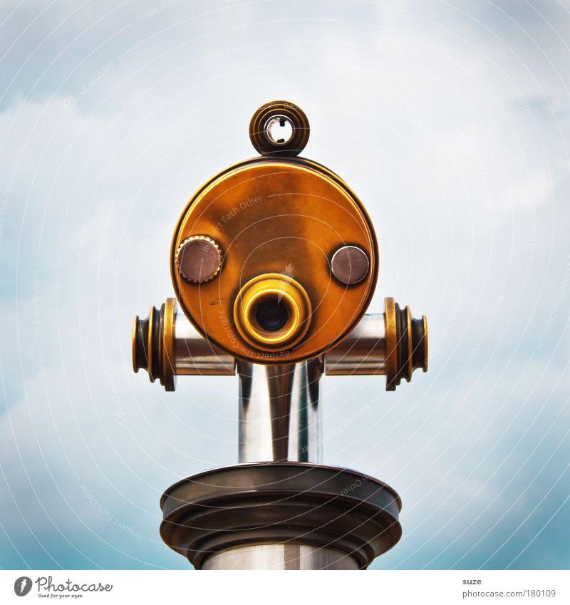 La-La Freude Gesicht Ferien & Urlaub & Reisen Tourismus Ferne Freiheit wandern Himmel Wolken Wetter Sehenswürdigkeit Fernglas Teleskop Metall beobachten lachen