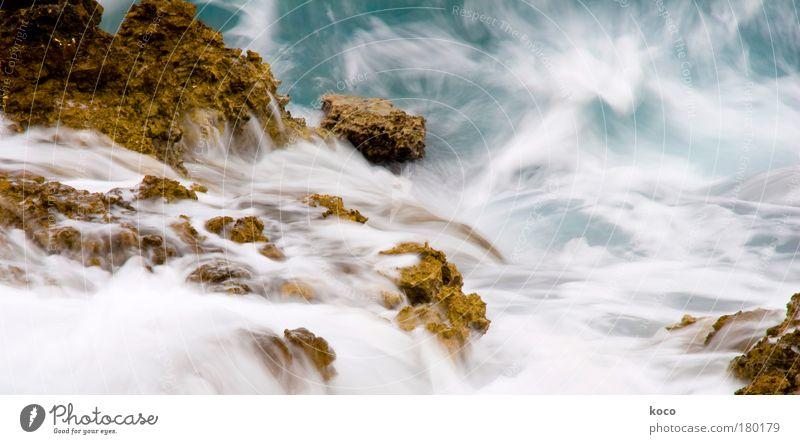 H2O Farbfoto Außenaufnahme Menschenleer Tag Bewegungsunschärfe Natur Landschaft Wasser Sommer Wellen Fluss ästhetisch Flüssigkeit schön blau braun grün weiß