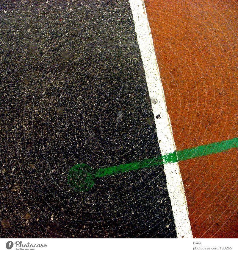 Schwarze Pampe. Rote Grütze. Grüne Soße. weiß grün rot schwarz Sport Platz Bodenbelag Streifen Symbole & Metaphern diagonal Straßenbelag Politik & Staat