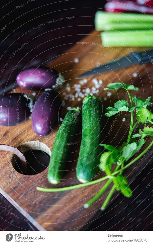 Gemüseplatte Essen Gesundheit Lebensmittel Ernährung frisch Kräuter & Gewürze kochen & garen Holzbrett Bioprodukte Messer Vegetarische Ernährung Diät Fasten