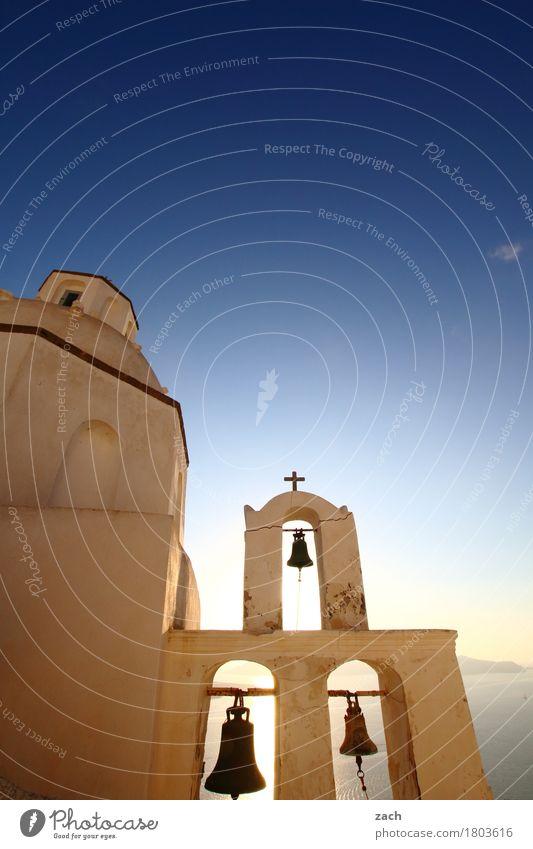 bitte klingeln... Ferien & Urlaub & Reisen Wolkenloser Himmel Sonnenaufgang Sonnenuntergang Schönes Wetter Küste Meer Mittelmeer Ägäis Insel Kykladen Santorin