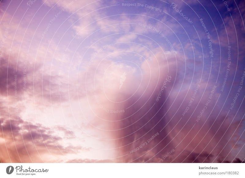 Drama Wolke 1 Farbfoto mehrfarbig Außenaufnahme Luftaufnahme abstrakt Strukturen & Formen Menschenleer Textfreiraum links Textfreiraum oben Morgendämmerung