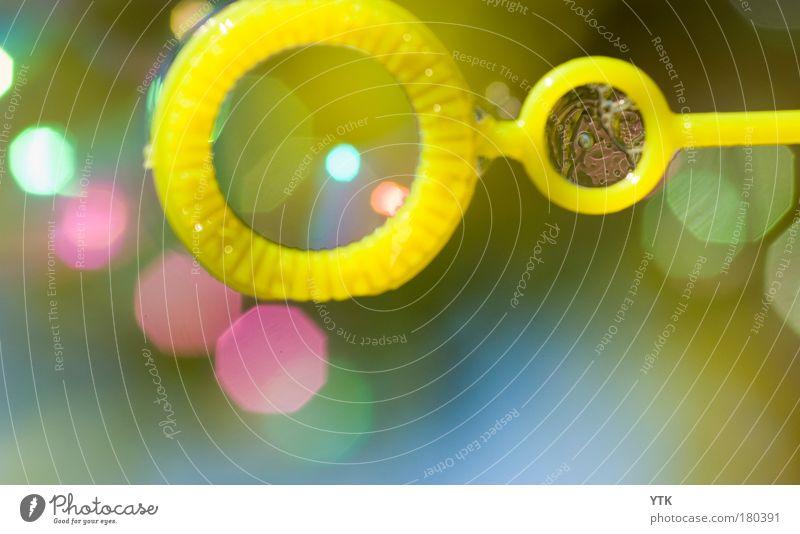 Pustefertig schön grün Freude gelb Gefühle Spielen Beleuchtung Denken rosa Freizeit & Hobby glänzend Kindheit Kreis Lebensfreude Kitsch blasen